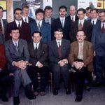 Andrzej Bochenek z zespołem w roku 1996, siedzą od lewej: M. Krejca, M. Wites, J. Skiba, A. Bochenek, J. Skalski