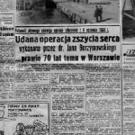 Informacja z prasy codziennej z 1978 roku w rocznicę historycznej operacji przeprowadzonej przez dr. Borzymowskiego