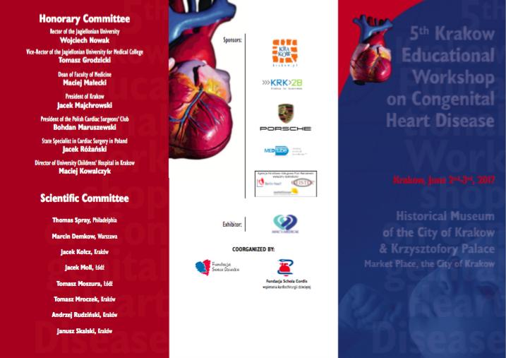 5th Kraków Educational Workshop on Congenital Heart Disease – 5 Warsztaty Kardiochirurgii Dziecięcej